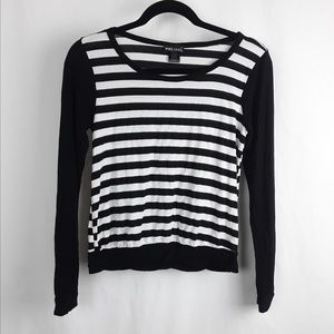 Wet Seal Tops - Black and White Stripe Shirt